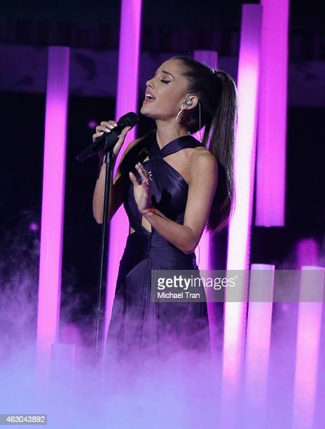 Ariana Grande performs onstage during The 57th Annual GRAMMY Awards at STAPLES Center on February 8 2015 in Los Angeles California
