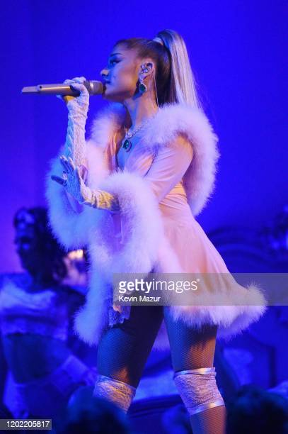 Ariana Grande performs onstage during the 62nd Annual GRAMMY Awards at STAPLES Center on January 26, 2020 in Los Angeles, California.