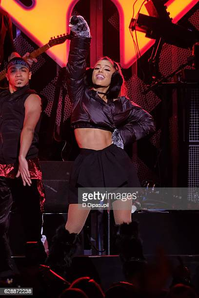 Ariana Grande performs onstage during Z100's Jingle Ball 2016 at Madison Square Garden on December 9 2016 in New York City