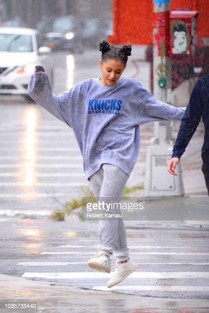 Ariana Grande seen on September 18 2018 in New York City