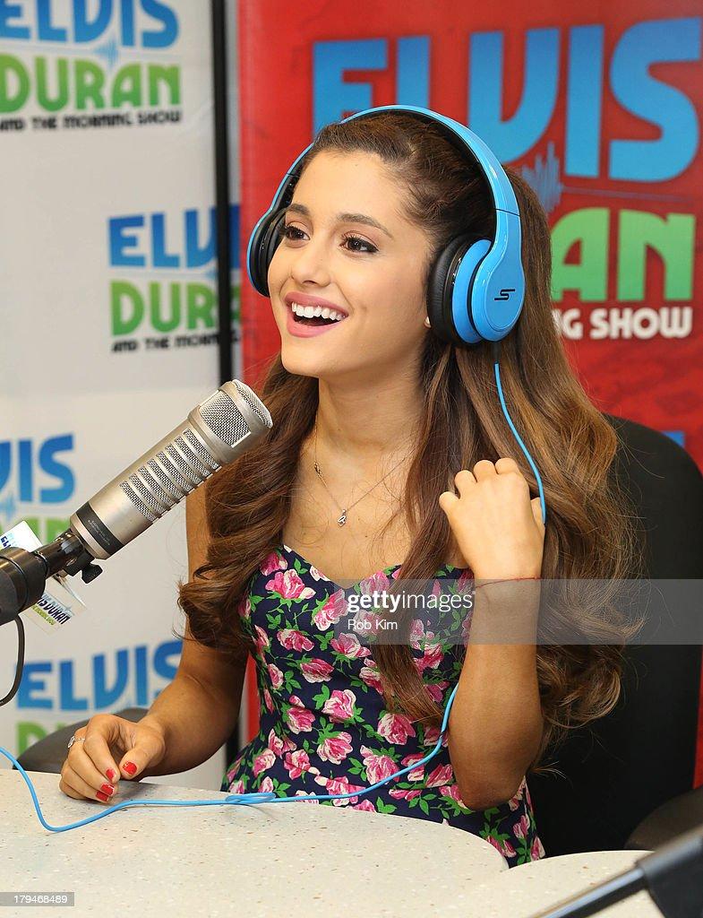 Ariana grande visits ariana grande visits the elvis duran z100 morning show at z100 studio on september voltagebd Images