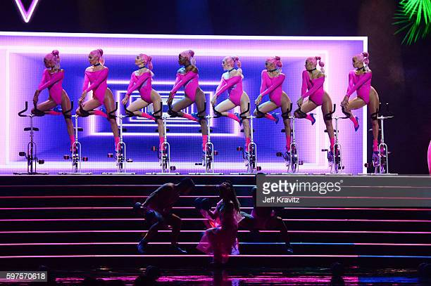 Ariana Grande's ballet performs onstage during the 2016 MTV Video Music Awards at Madison Square Garden on August 28 2016 in New York City