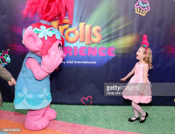 Ariana Jalia attends DreamWorks Trolls The Experience Rainbow Carpet Grand Opening on November 14 2018 in New York City