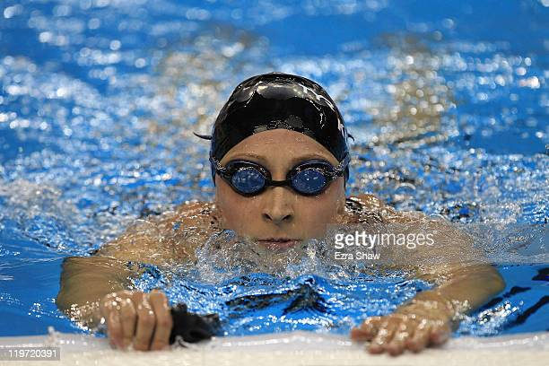 Ariana Kukors of the United States looks on after the Women's 200m Individual Medley Semi Final during Day Nine of the 14th FINA World Championships...