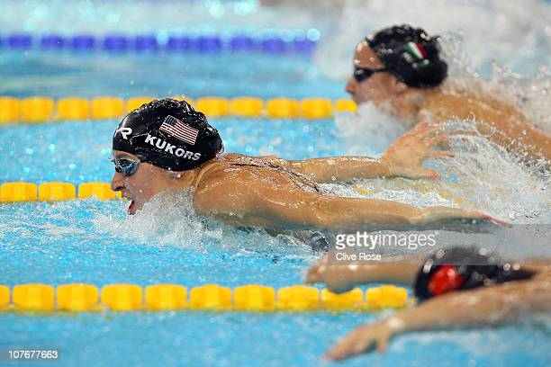 Ariana Kukors of USA competes during the Women's 200m Individual Medley final on day four of the 10th FINA World Swimming Championships at the Hamdan...