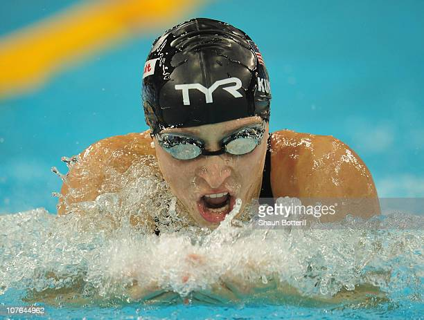 Ariana Kukors of USA competes in the semi final of the Women's 100m Individual Medley during the 10th FINA World Swimming Championships at the Hamdan...