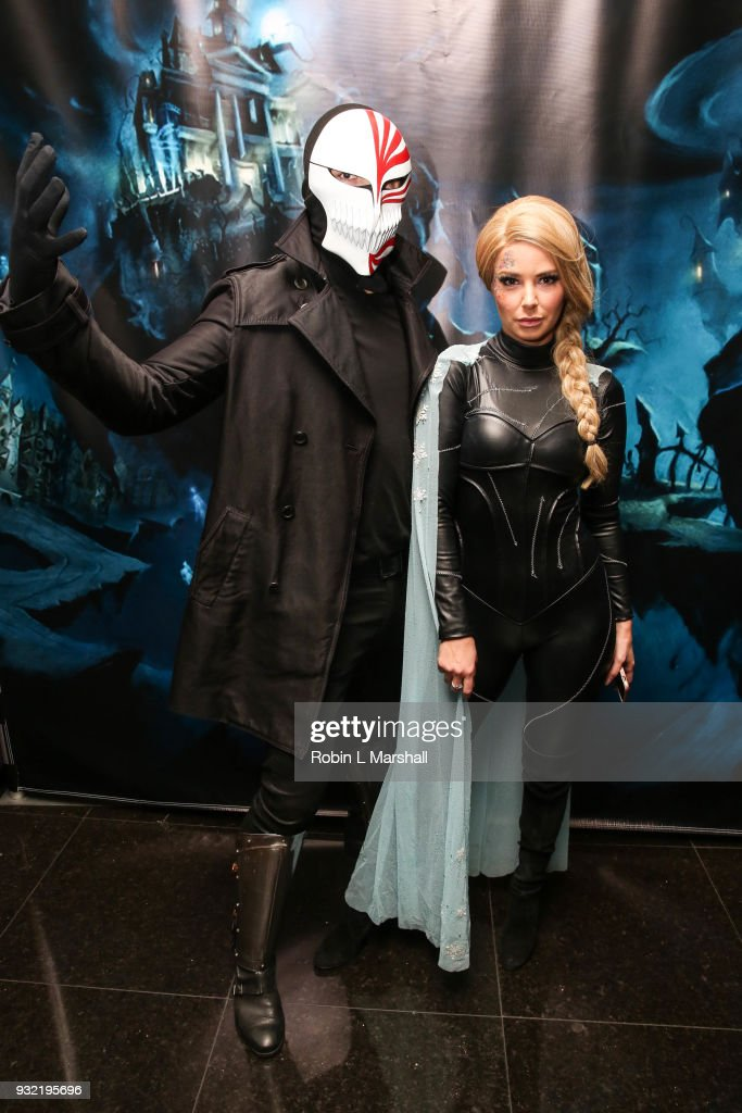 Ariana Madix and boyfriend Tom Sandoval of 'Vanderpump Rules' attend Kyle Chan's Dark Disney Birthday Party at Sofitel Hotel on March 14, 2018 in Los Angeles, California.
