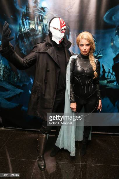 Ariana Madix and boyfriend Tom Sandoval of 'Vanderpump Rules' attend Kyle Chan's Dark Disney Birthday Party at Sofitel Hotel on March 14 2018 in Los...
