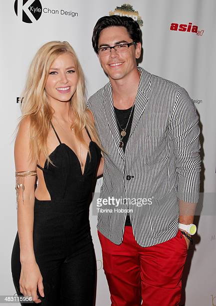 Ariana Madix and Tom Sandoval attend the 1st #LoveCampaign party at Pump on August 5 2015 in West Hollywood California