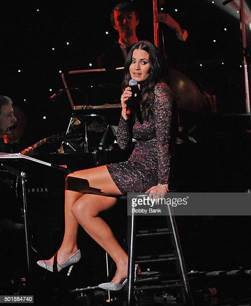 Ariana Marie Davi performs Celebrate Sinatra's 100th Birthday With Robert Davi at Foxwoods Resort Casino on December 12 2015 in Mashantucket...