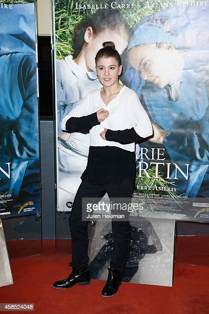 Ariana Rivoire attends 'Marie Heurtin' Paris Premiere on November 6 2014 in Paris France