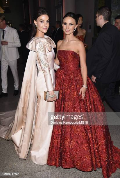 Ariana Rockefeller and Georgina Bloomberg attend the Heavenly Bodies Fashion The Catholic Imagination Costume Institute Gala at The Metropolitan...