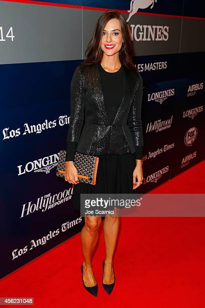Ariana Rockefeller arrives at the Longines Los Angeles Masters at Los Angeles Convention Center on September 27 2014 in Los Angeles California