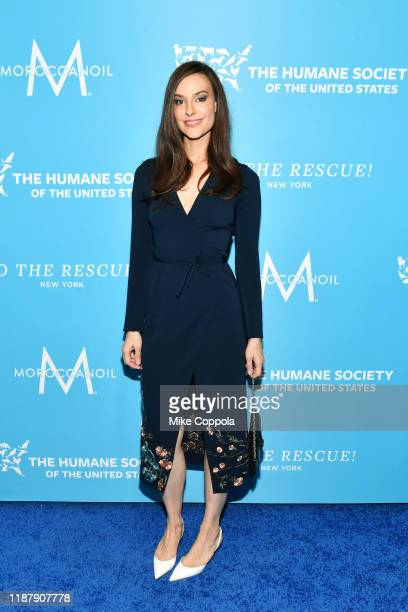 Ariana Rockefeller arrives to the Humane Society Of The United States To The Rescue New York Gala 2019 at Cipriani 42nd Street on November 15 2019 in...