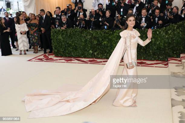 Ariana Rockefeller attends Heavenly Bodies Fashion the Catholic Imagination the 2018 Costume Institute Benefit at Metropolitan Museum of Art on May 7...