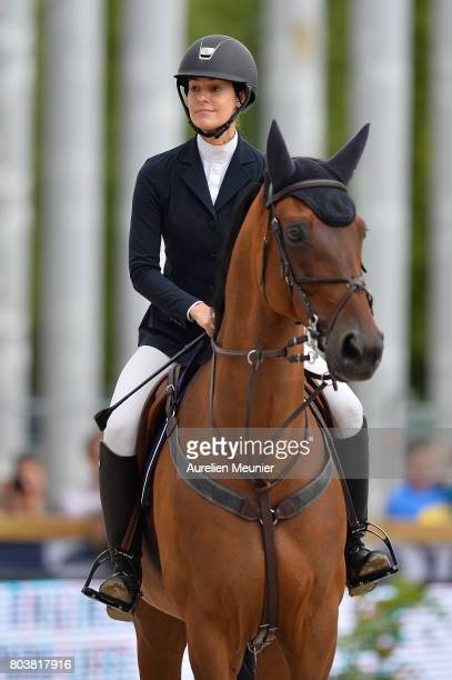 Ariana Rockefeller of The United States of America and Out of Beag compete on day 1 in the 4th Longines Paris Eiffel Jumping competiton on June 30...