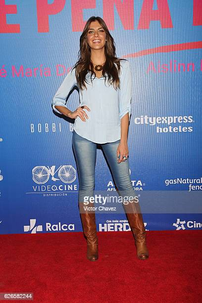 Ariana Ron Pedrique attends the 'Que Pena Tu Vida' Mexico City Premiere at Cinepolis Oasis Coyoacan on November 29 2016 in Mexico City Mexico
