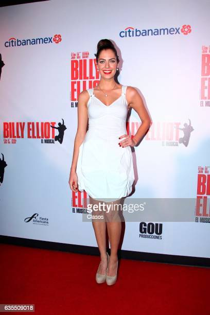 Ariana Ron Pedrique poses for the camera during the opening night of Billy Elliot Music Show on February 15 2017 in Mexico City Mexico