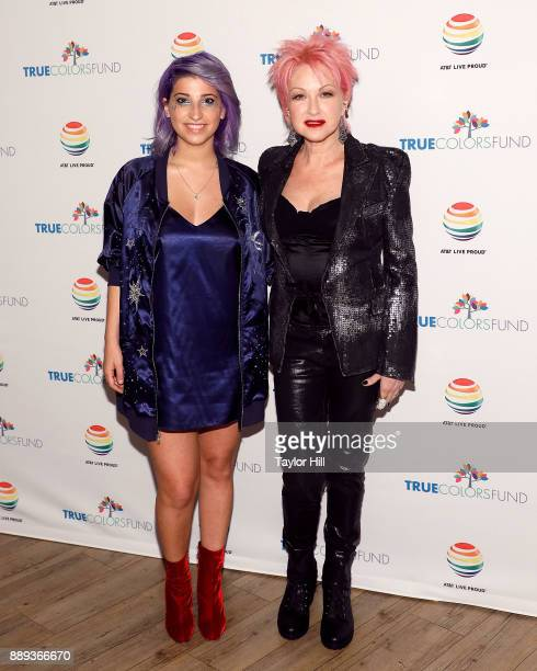 Ariana the Rose and Cyndi Lauper attend Cyndi Lauper's 2017 'Home for the Holidays' concert benefitting the True Colors Fund at Beacon Theatre on...