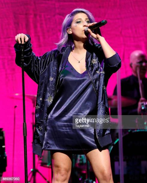 Ariana the Rose performs during Cyndi Lauper's 2017 'Home for the Holidays' concert benefitting the True Colors Fund at Beacon Theatre on December 9...
