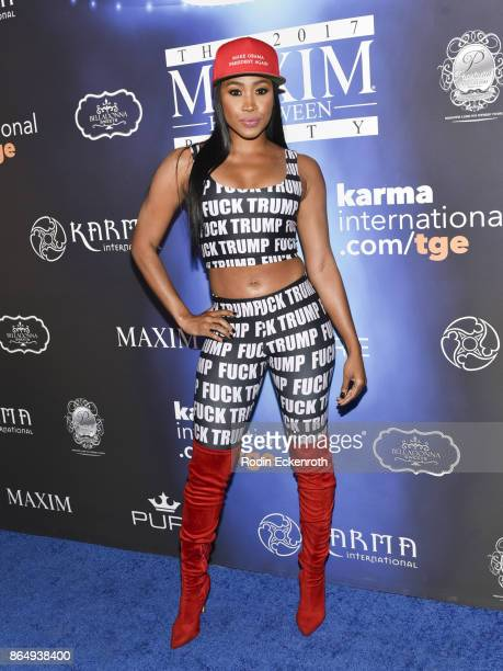 Ariane Andrew arrives at the 2017 MAXIM Halloween Party at LA Center Studios on October 21 2017 in Los Angeles California