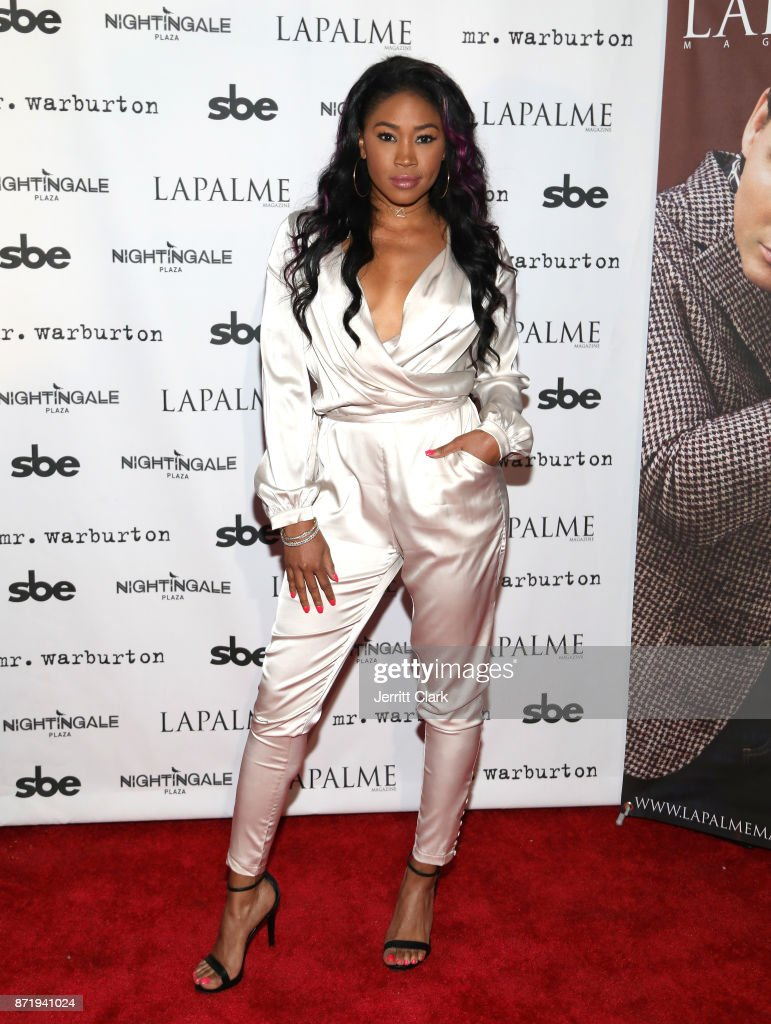 Ariane Andrew attends the LaPalme Magazine fall cover party at Nightingale Plaza on November 8, 2017 in Los Angeles, California.