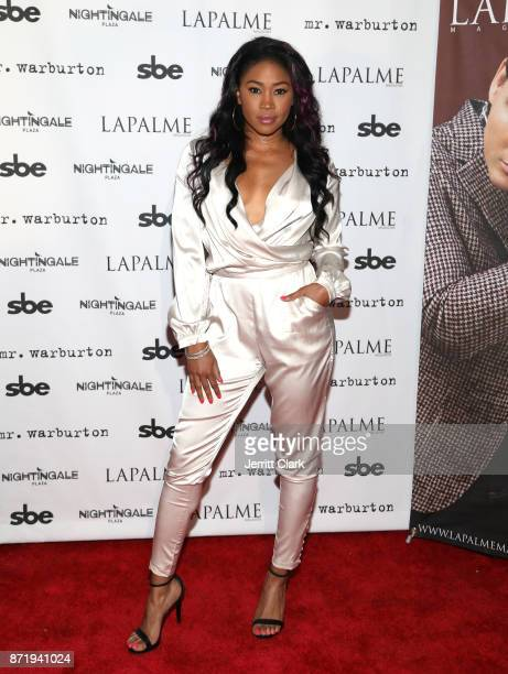 Ariane Andrew attends the LaPalme Magazine fall cover party at Nightingale Plaza on November 8 2017 in Los Angeles California