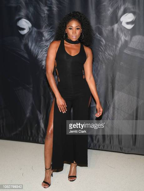 Ariane Andrew attends the Sachika Black Sheep Fashion Show at OUE Skyspace LA on October 22 2018 in Los Angeles California