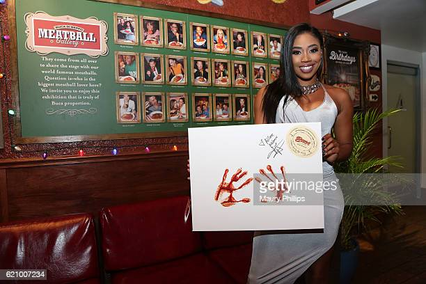 Ariane Andrew celebrates her birthday at at Buca di Beppo with signature handprints ceremony on November 3 2016 in Los Angeles California