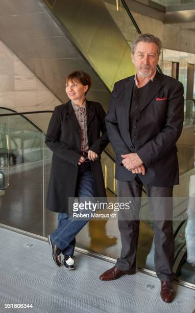 Ariane Ascaride and Director Robert Guediguian pose for the press during a presentation of their latest film 'La Casa Junto al Mar' on March 14 2018...