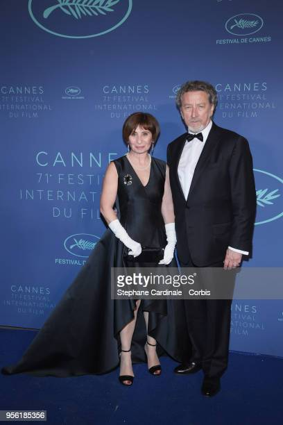 Ariane Ascaride and Robert Guediguian arrive at the Gala dinner during the 71st annual Cannes Film Festival at Palais des Festivals on May 8 2018 in...