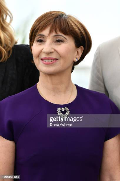 Ariane Ascaride attends the photocall for 'Little Tickles ' during the 71st annual Cannes Film Festival at Palais des Festivals on May 14 2018 in...