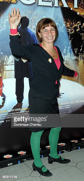 Ariane Ascaride attends the premiere of ''Le Concert'' at the Theatre du Chatelet on October 23 2009 in Paris France