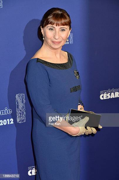 Ariane Ascaride attends the Red Carpet Arrivals Cesar Film Awards 2012 at Theatre du Chatelet on February 24 2012 in Paris France