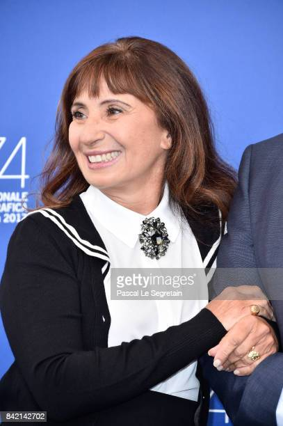 Ariane Ascaride attends the 'The House By The Sea ' photocall during the 74th Venice Film Festival on September 3 2017 in Venice Italy