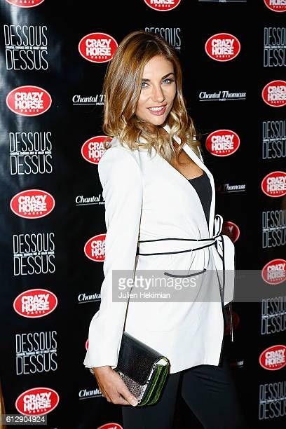 Ariane Brodier attends the Chantal Thomass' Show at Le Crazy Horse on October 5 2016 in Paris France