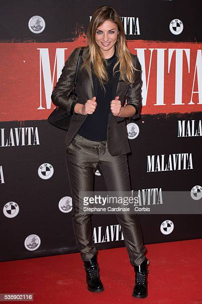 Ariane Brodier attends the 'Malavita' premiere at Europacorp Cinemas at Aeroville Shopping Center in RoissyenFrance France