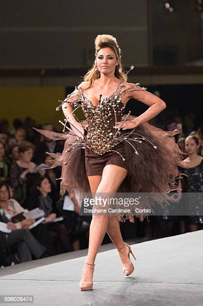 Ariane Brodier walks the runway during the 'Salon Du Chocolat' Fashion Show on October 29 2014 in Paris France