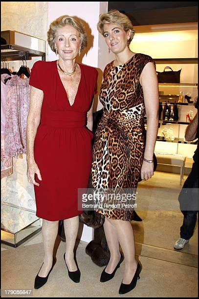Ariane Dandois and daughter Ondine De Othschild at The Opening Evening Of The Giambattista Valli Boutique In Paris