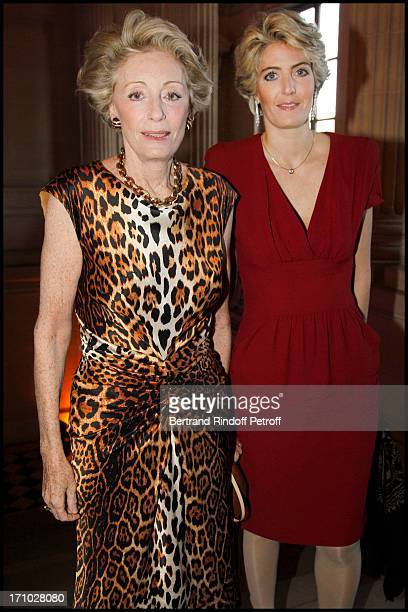 Ariane Dandois and daughter Ondine De Rothschild at Gala Evening At The Monnaie De Paris Raising Funds For The Aix En Provence Festival And Its...