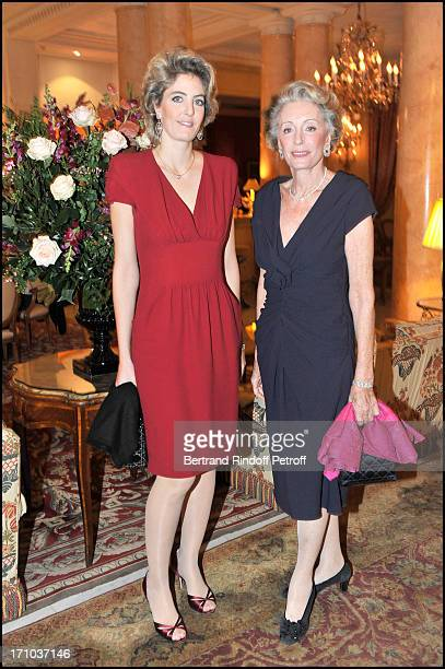 Ariane Dandois and daughter Ondine De Rothschild at The Nounours Reve Par Fundraising Dinner And Auction In Aid Of Action Innocence At L'Hotel Bristol