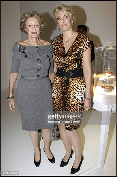 Ariane Dandois and daughter Ondine De Rothschild at The Private View Of Victoire De Castellane's Exhibition Of Fleurs D'Exces At Galerie Gagosian...