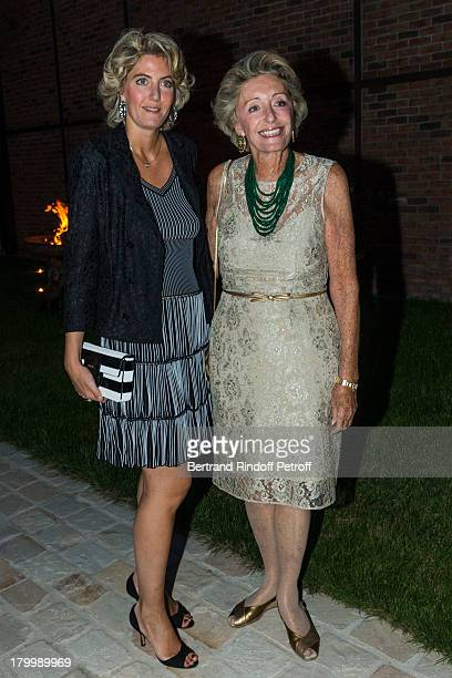 Ariane Dandois and daughter Ondine de Rothschild attend the Georg Baselitz exhibition preview and dinner at Thaddeus Ropac Gallery on September 7...