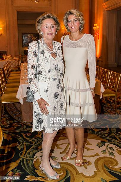Ariane Dandois and her daughter Ondine de Rothschild attend a charity dinner hosted by the Claude Pompidou foundation at Four Seasons Hotel George V...