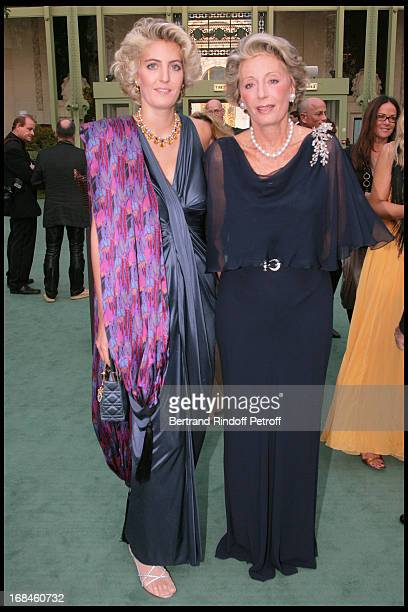 Ariane Dandois and her daughter Ondine of Rothschild at 24th Biennale Des Antiquaires At Grand Palais In Paris