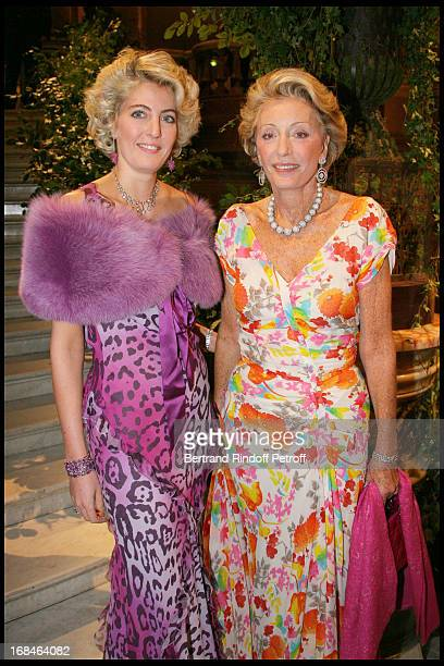Ariane Dandois and her daughter Ondine of Rothschild at Gala Of The Association For The Influence Of The National Paris Opera At Palais Garnier