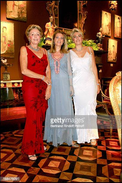 Ariane Dandois Baroness Edouard of Rothschild and Ondine of Rothschild 23rd antic fair in Paris followed by a dinner to the benefit of the foundation...