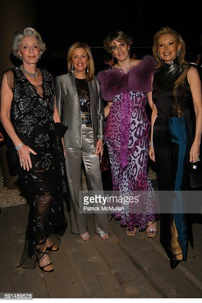 Ariane Dandois Jennifer Stockman Ondine de Rothschild and Audrey Gruss attend Inaugural Dinner and Awards Presenation of the Louise T Blouin...