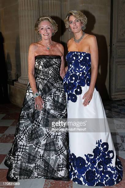 Ariane Dandois with her daughter Ondine de Rothschild attend 'Liaisons Au Louvre III' Charity Gala Dinner Hosted by American International Friends of...