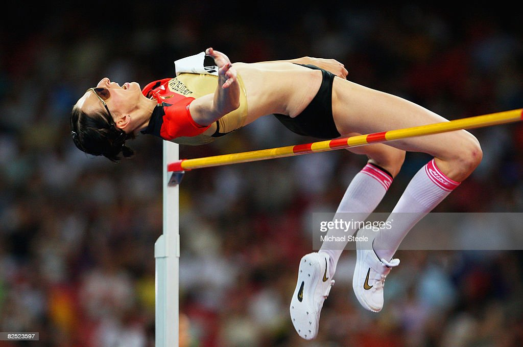 Ariane Friedrich of Germany competes in the Women's High Jump Final held at the National Stadium on Day 15 of the Beijing 2008 Olympic Games on August 23, 2008 in Beijing, China.